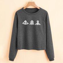 Skull Graphic Sweatshirt