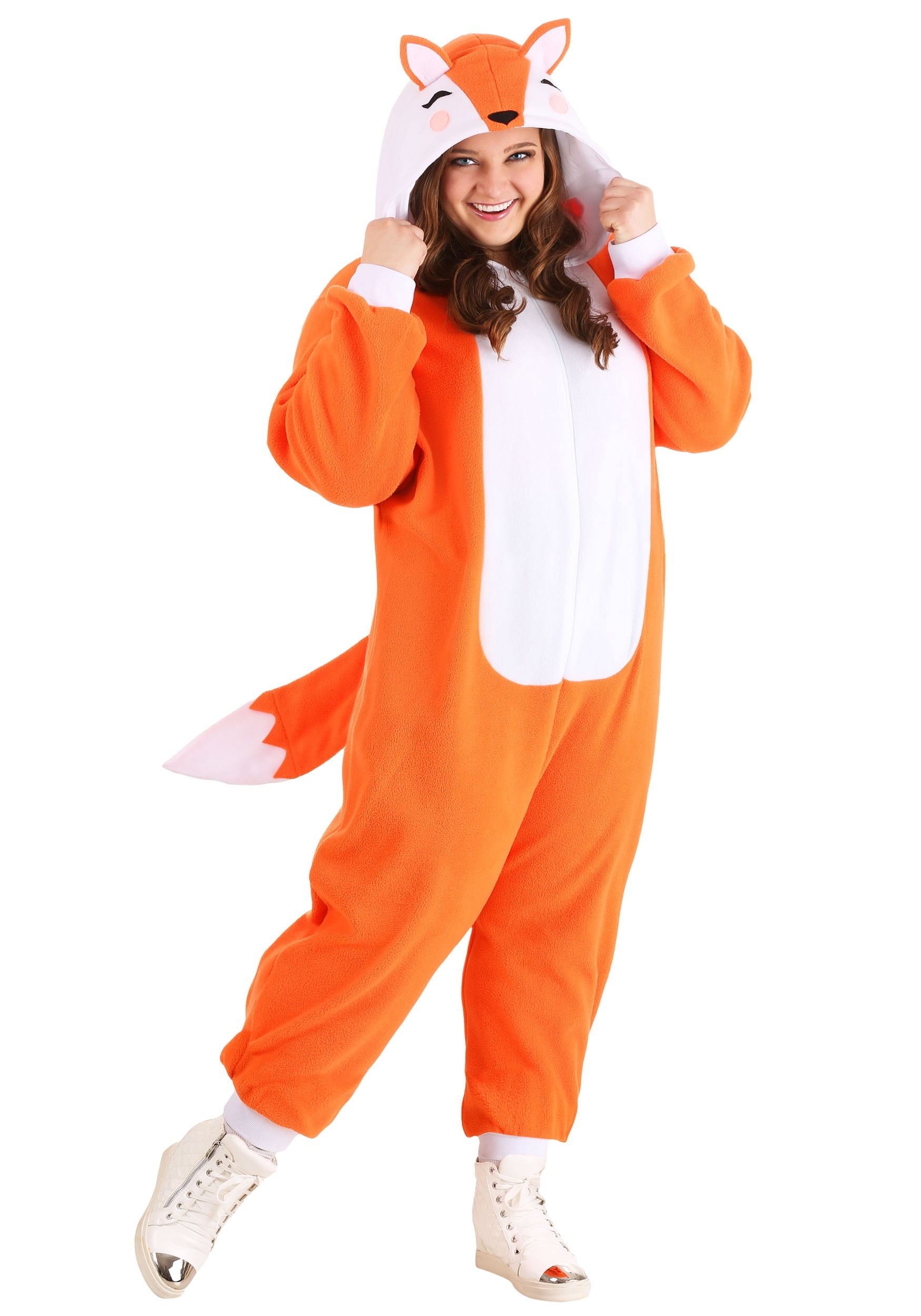 Plus Size Cozy Fox Costume for Adults