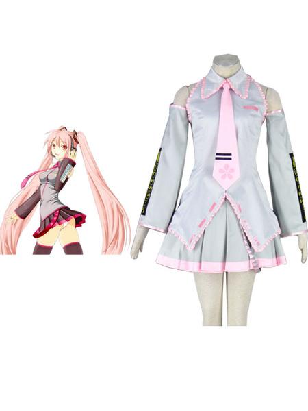 Milanoo Vocaloid Sakura Hatsune Miku Anime Cosplay Costume Halloween