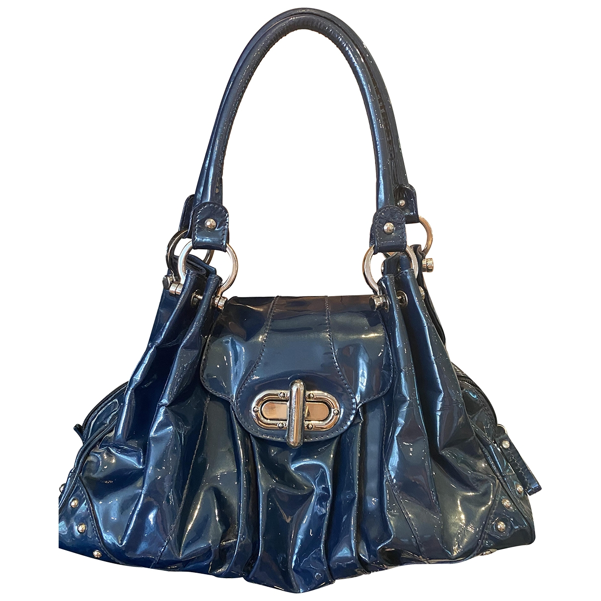 Russell & Bromley \N Handtasche in  Blau Lackleder