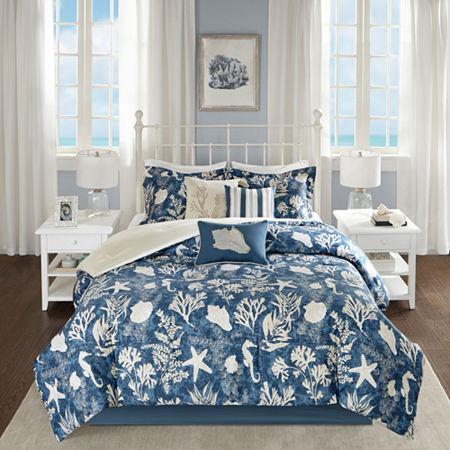 Madison Park Chatham Cotton 7-pc. Comforter Set, One Size , Blue