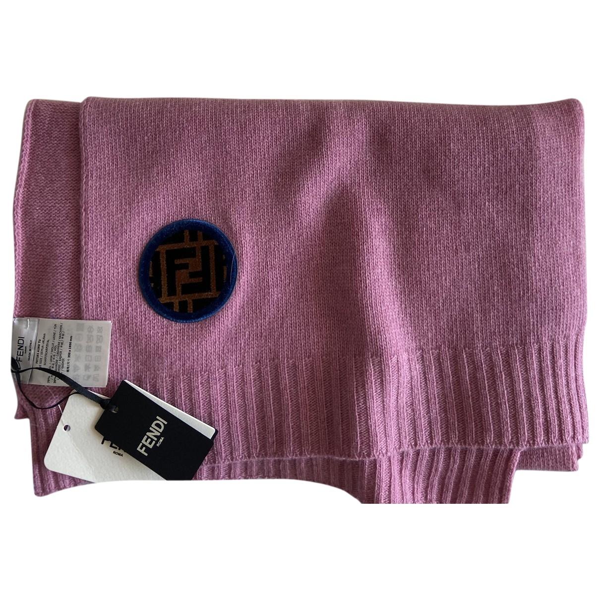 Fendi \N Schal in  Rosa Wolle