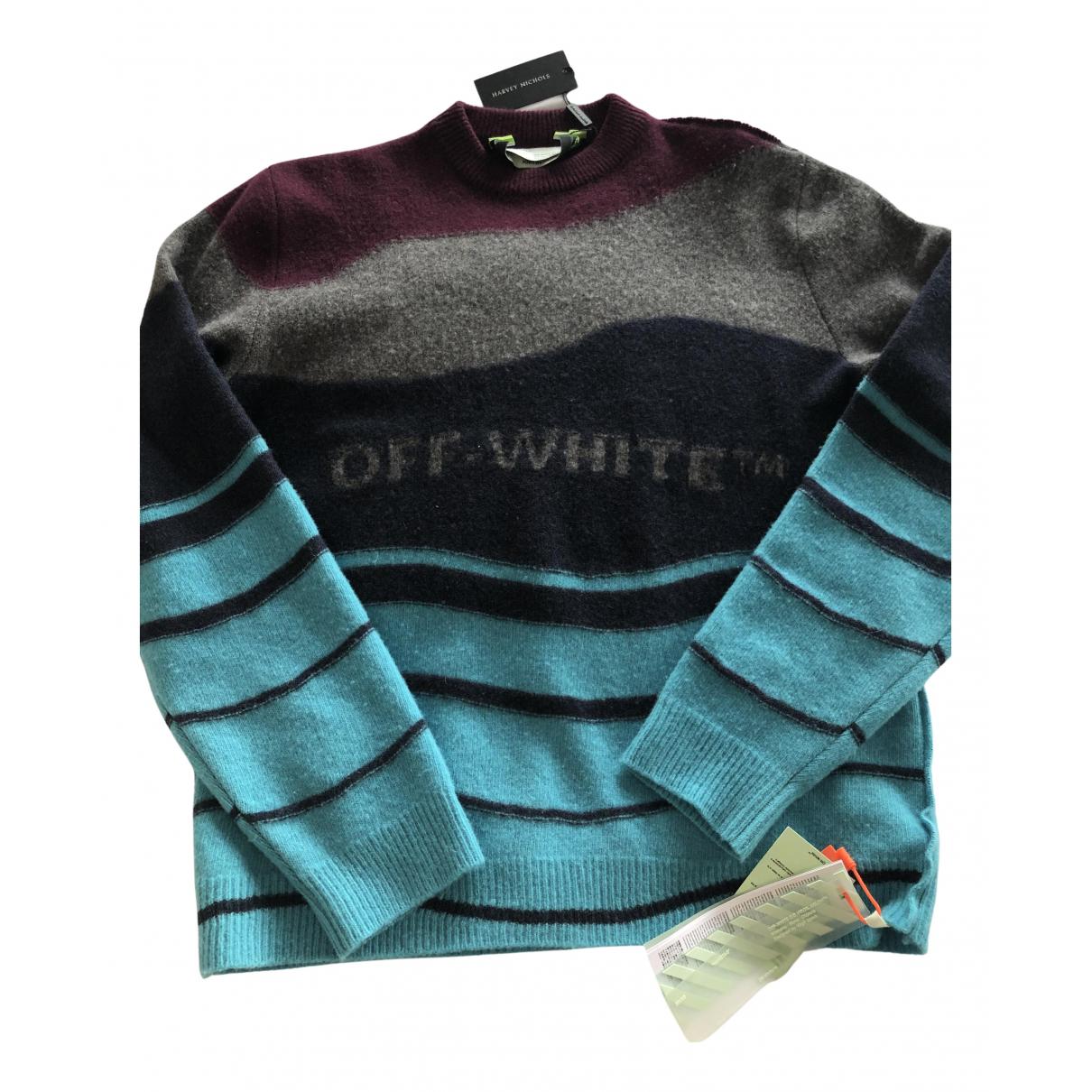 Off-white - Pulls.Gilets.Sweats   pour homme en laine - bleu