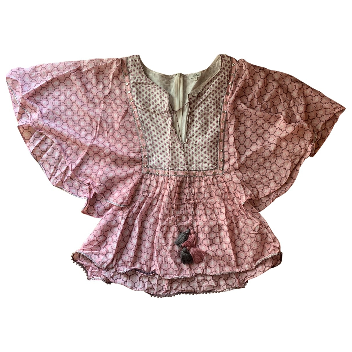Talitha \N Top in  Rosa Baumwolle