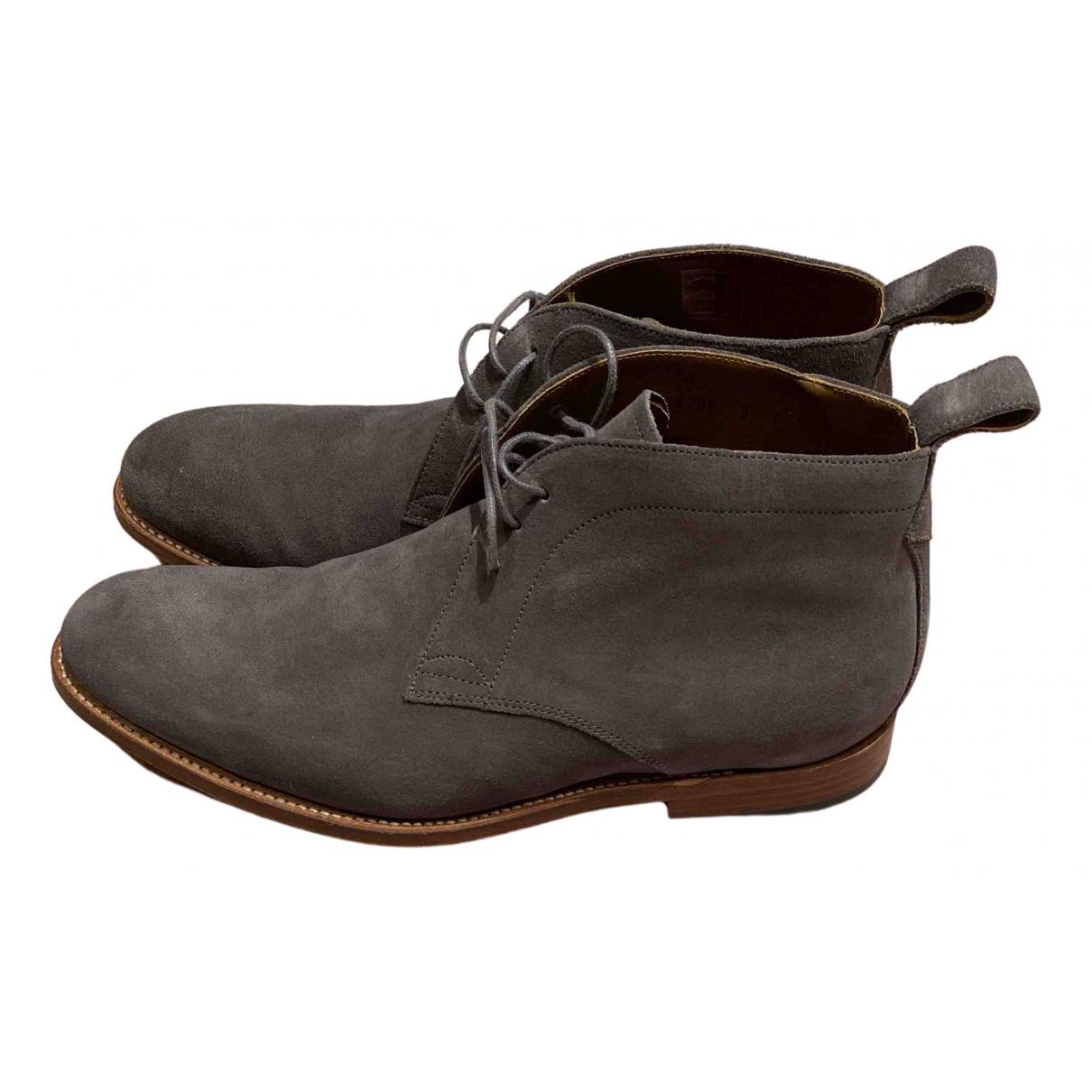 Grenson \N Stiefel in  Grau Veloursleder