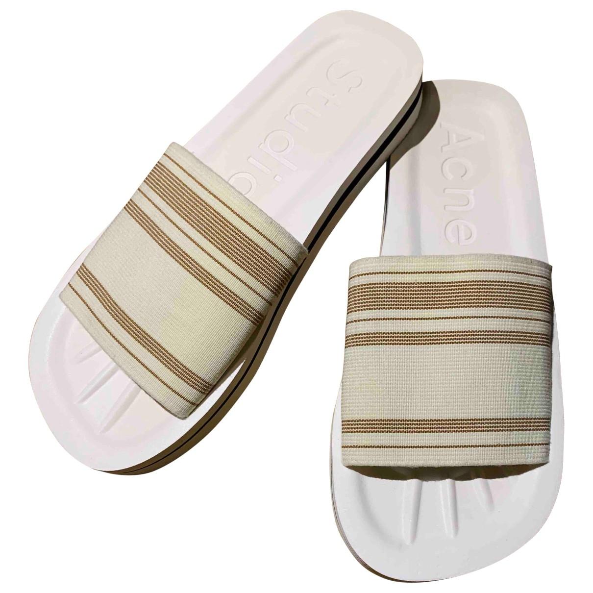 Acne Studios - Sandales   pour homme en toile - blanc