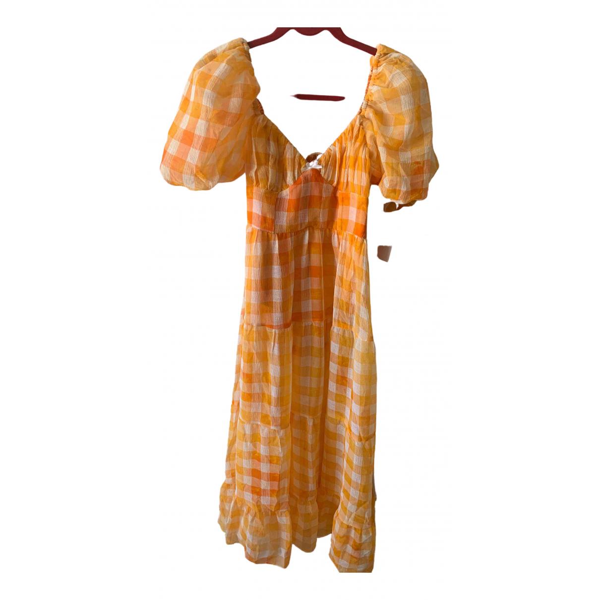 For Love & Lemons \N Kleid in  Gelb Polyester