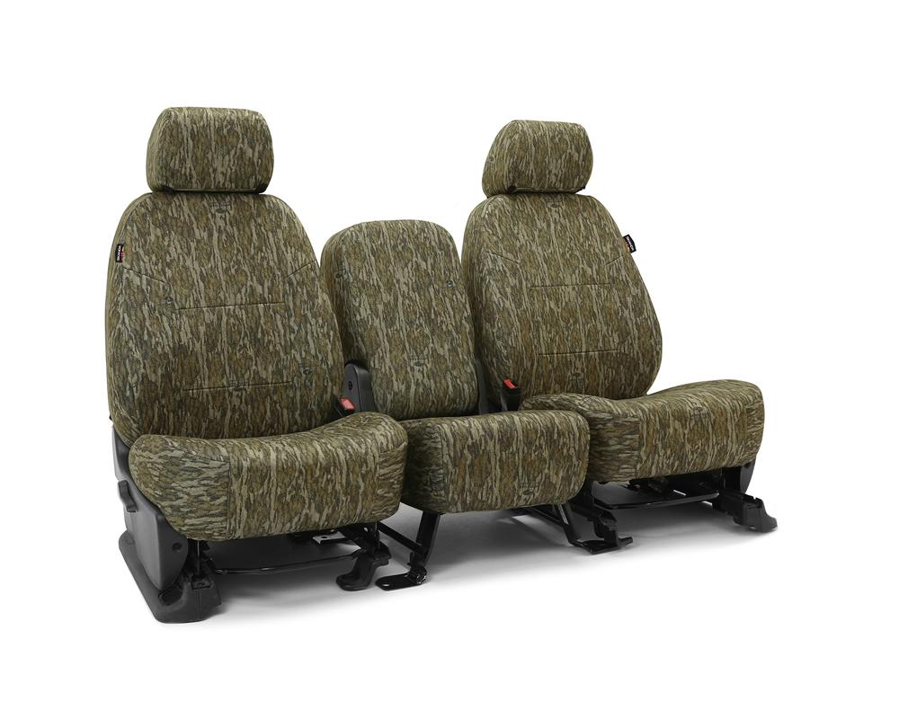 Coverking CSCMO06TT9837 Skanda Custom Seat Covers 1 Row Neosupreme Mossy Oak Bottomland Solid Rear Toyota Tacoma 2016-2021