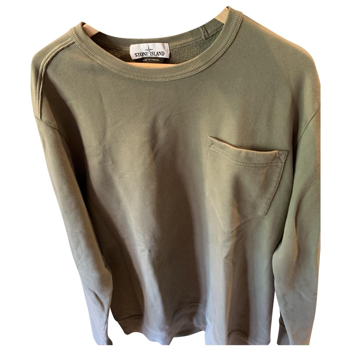 Stone Island \N Pullover.Westen.Sweatshirts  in  Gruen Baumwolle
