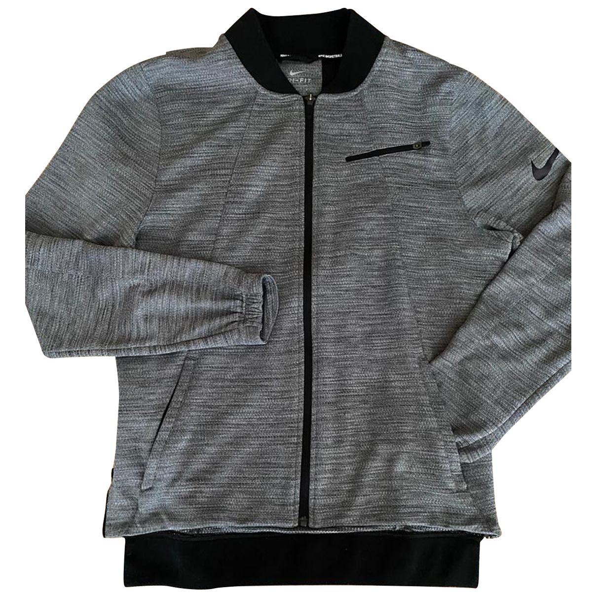 Nike \N Pullover.Westen.Sweatshirts  in  Grau Synthetik