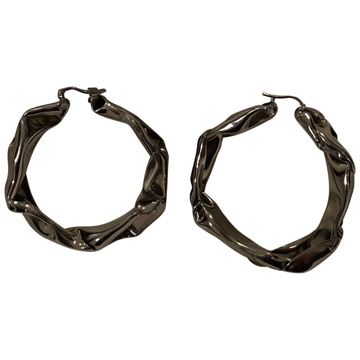 Jil Sander - Boucles doreilles   pour femme en metal - argente