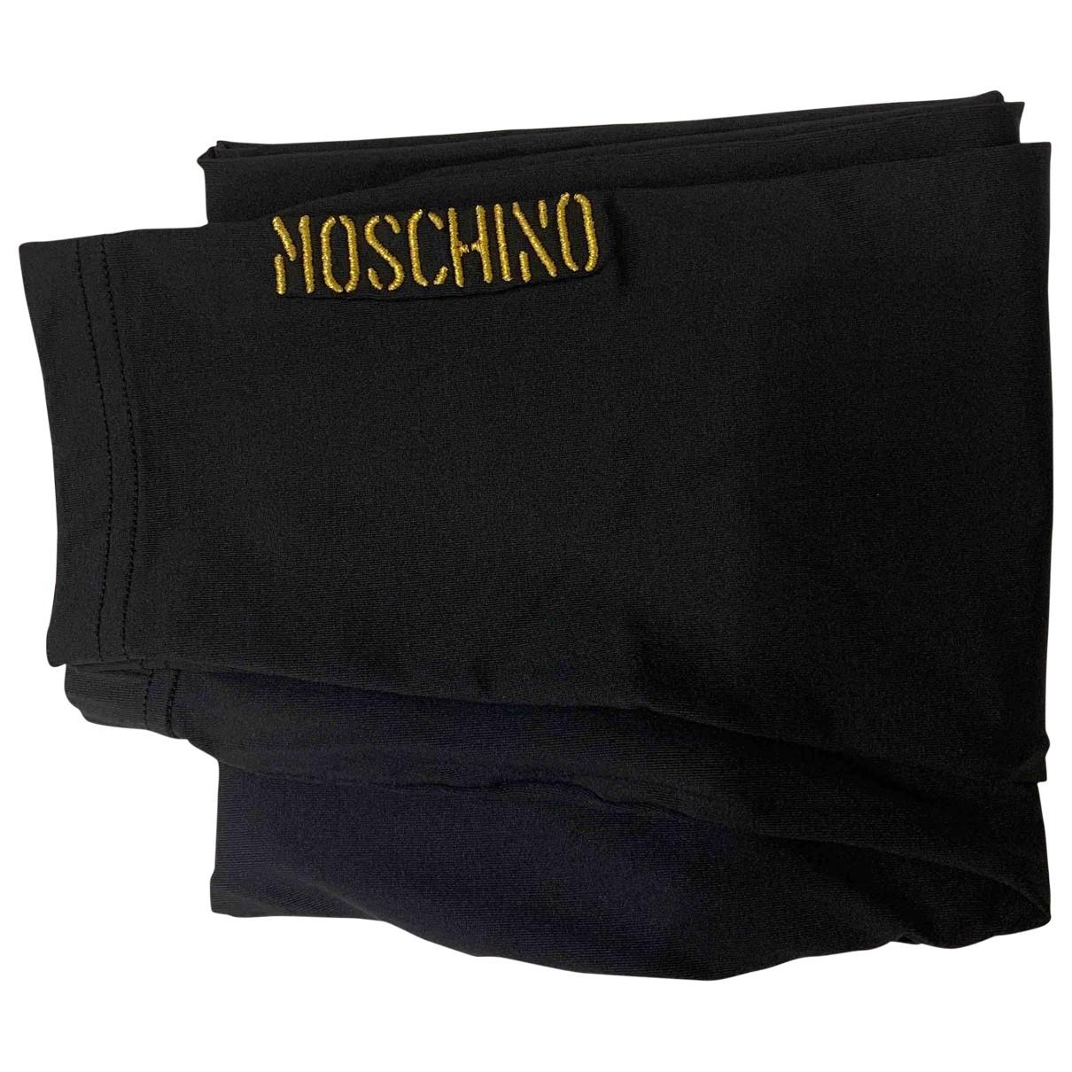 Moschino \N Hose in  Schwarz Elasthan