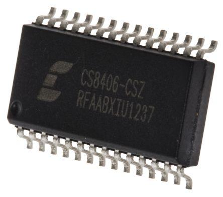 Cirrus Logic CS8406-CSZ , Audio Processor, 28-Pin SOIC