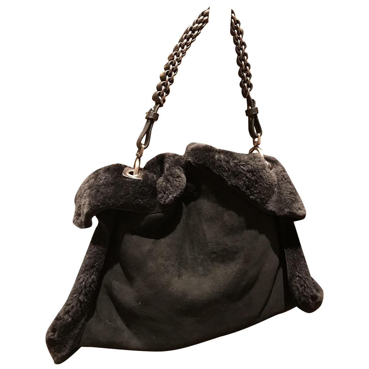 Jamin Puech - Sac a main   pour femme en mouton - noir