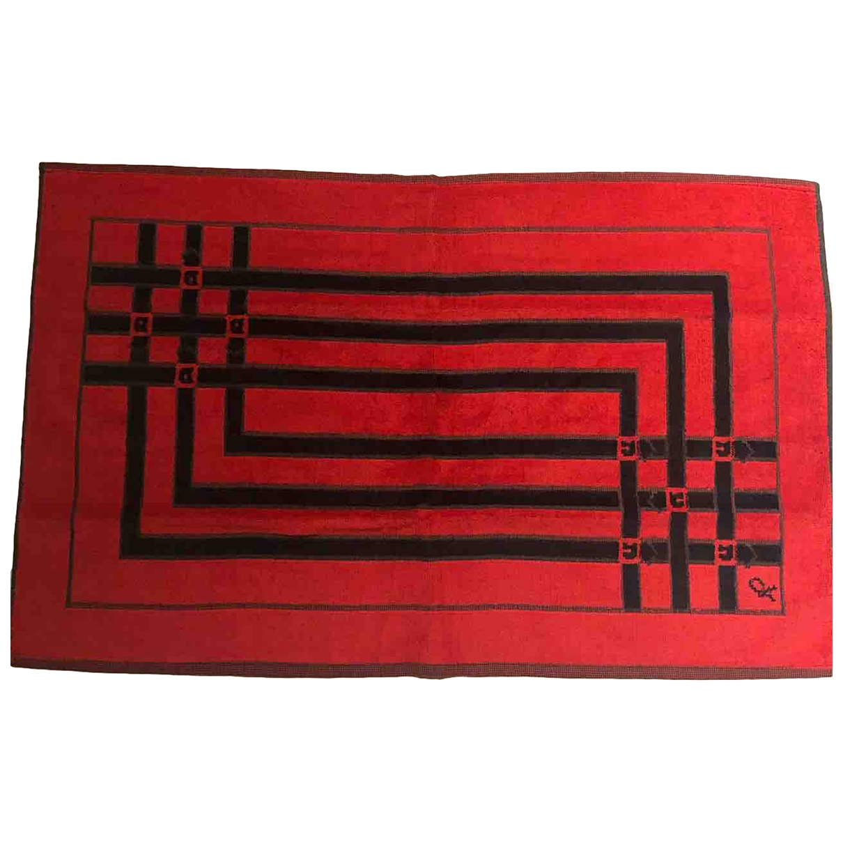 Non Signé / Unsigned \N Red Cotton Textiles for Life & Living \N