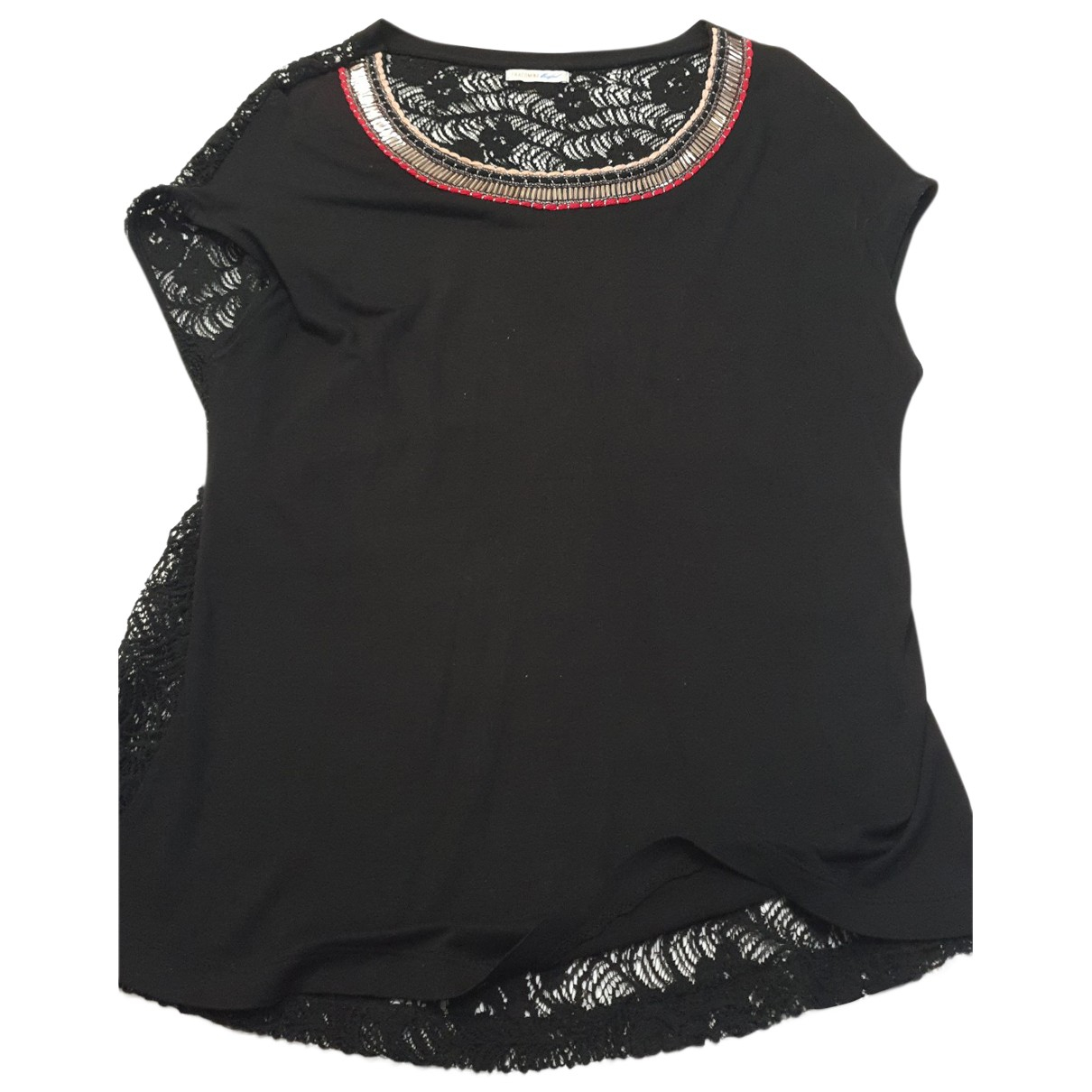 Non Signé / Unsigned N Black  top for Women XS International
