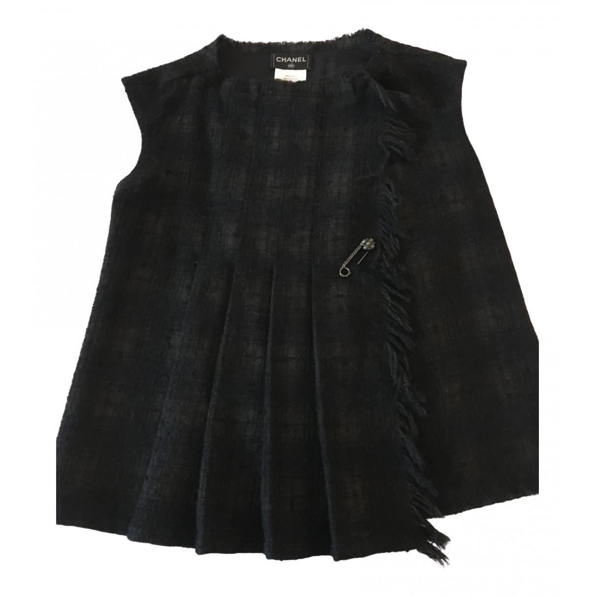 Chanel - Top   pour femme en tweed - noir