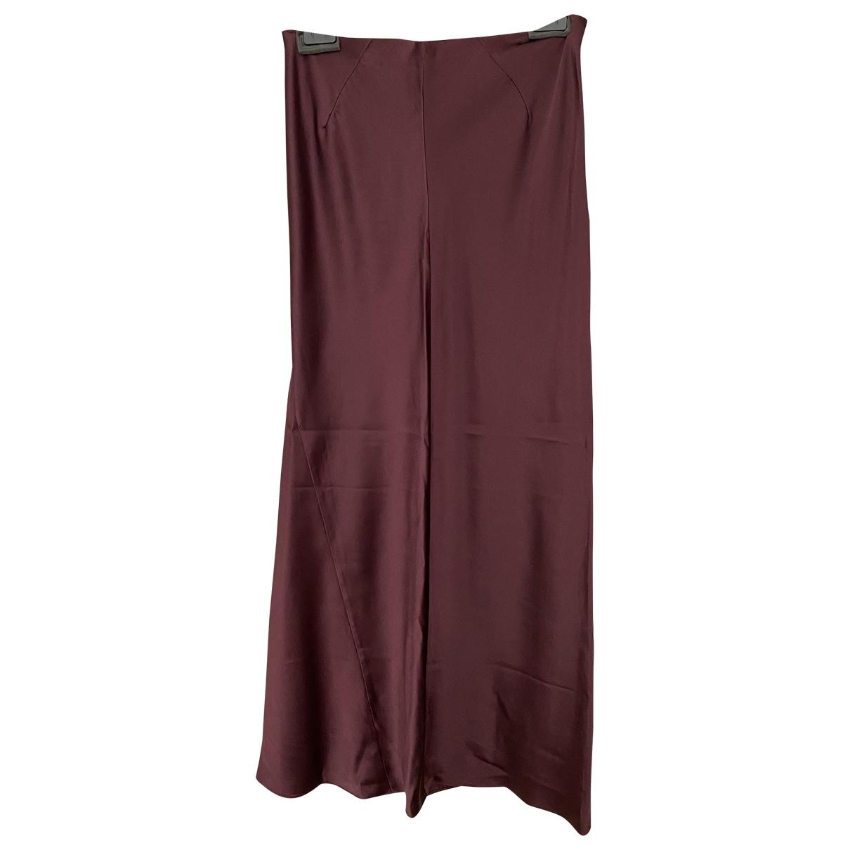 Joseph - Jupe   pour femme en soie - bordeaux