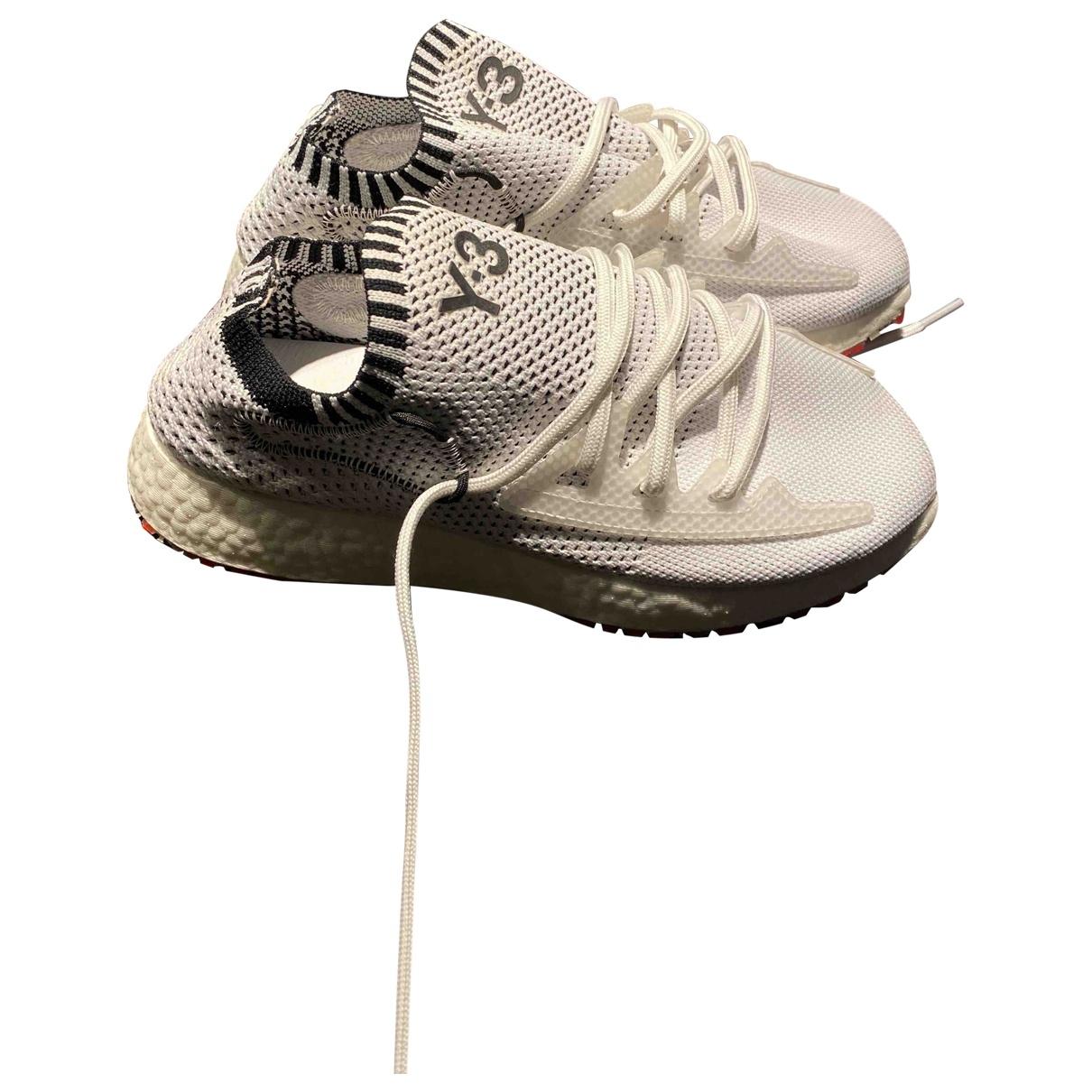 Y-3 By Yohji Yamamoto \N Sneakers in  Weiss Leinen