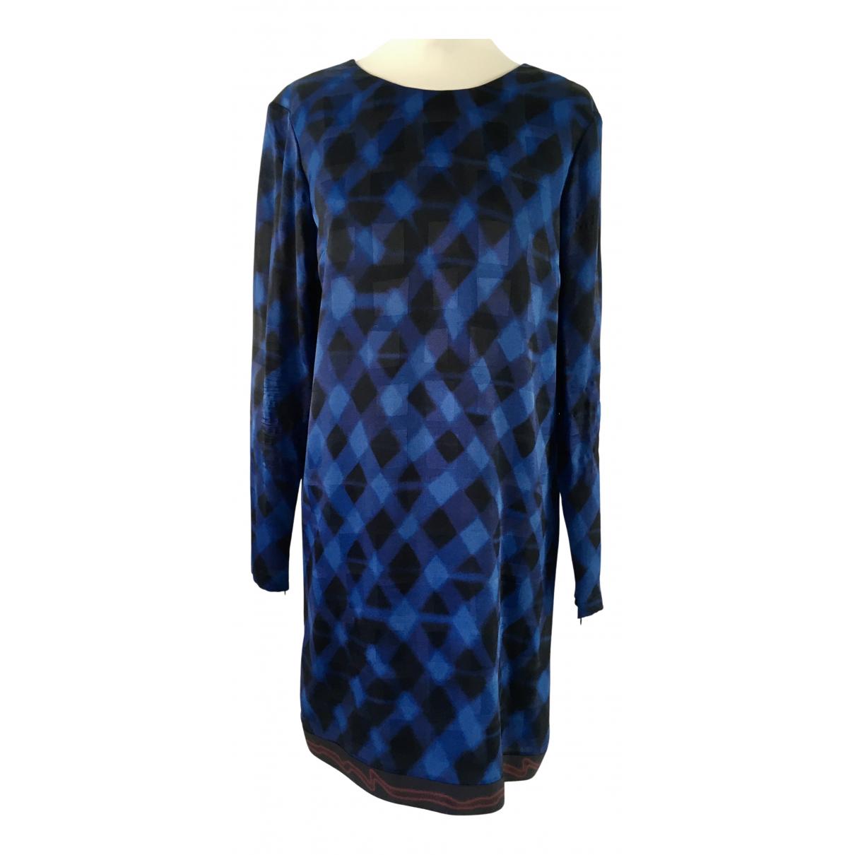 Kenzo \N Kleid in  Blau Seide