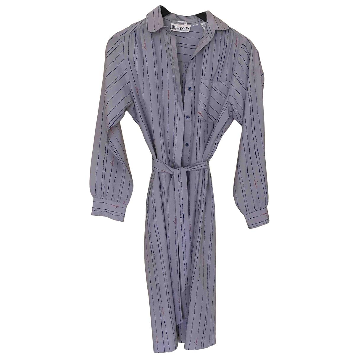 Lanvin - Robe   pour femme en coton - gris