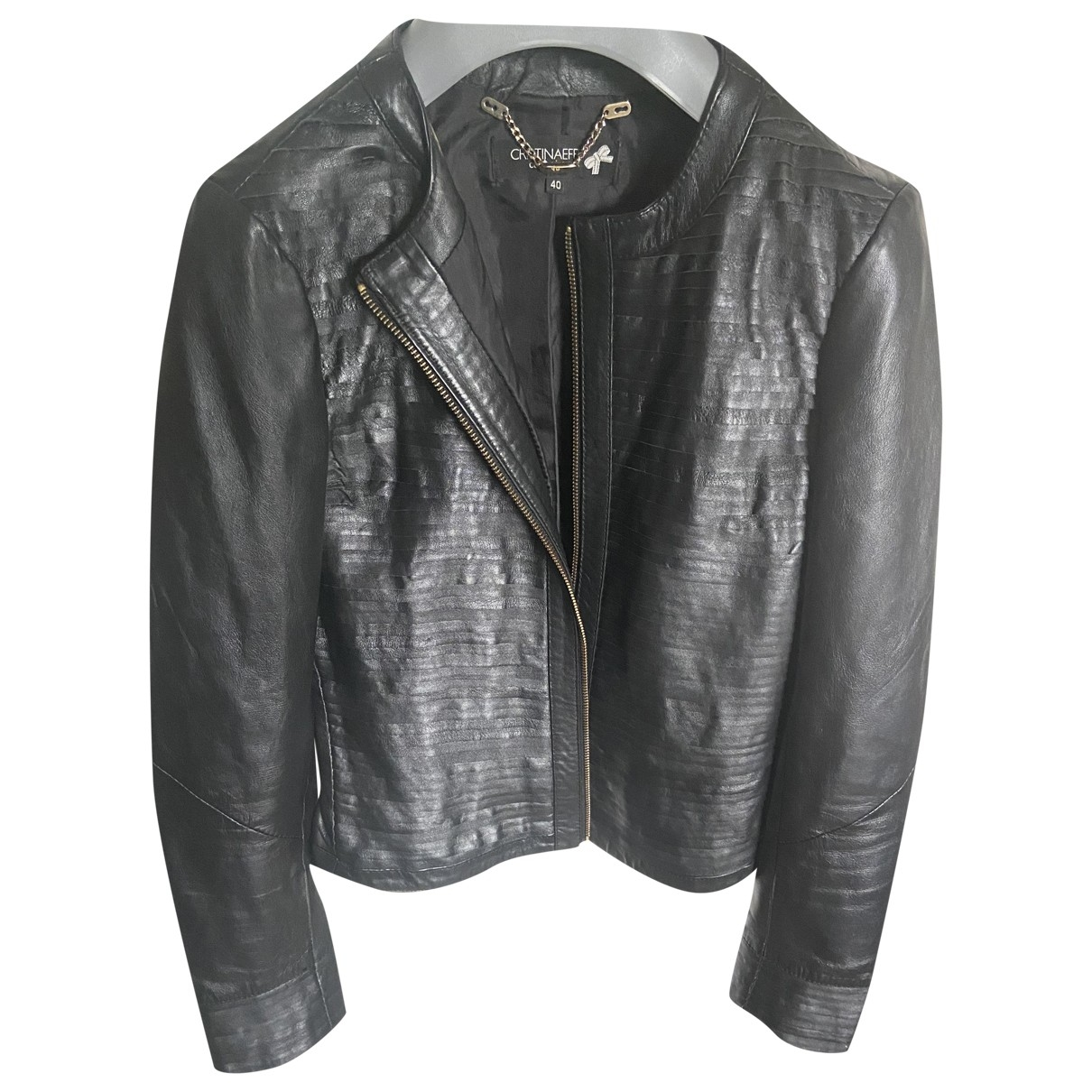 Non Signé / Unsigned \N Black Leather jacket for Women 40 IT