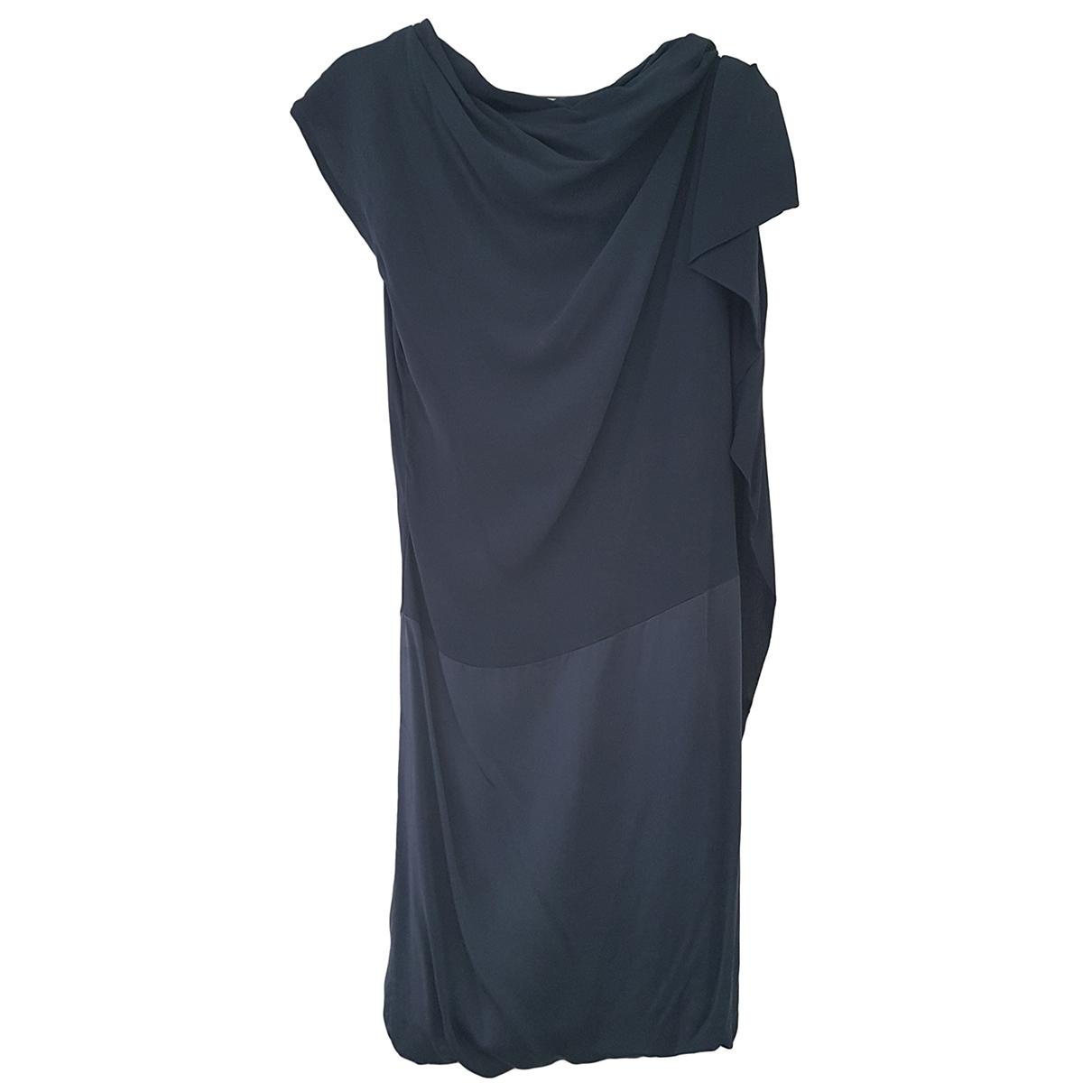 Schumacher \N Kleid in  Blau Seide