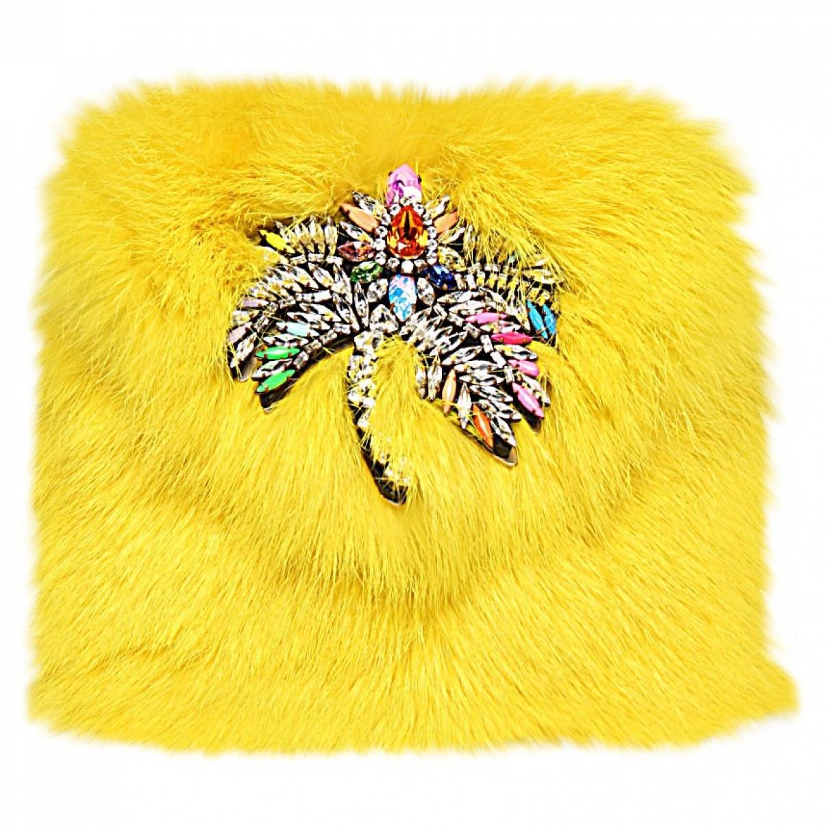 Shourouk \N Handtasche in  Gelb Kaninchen