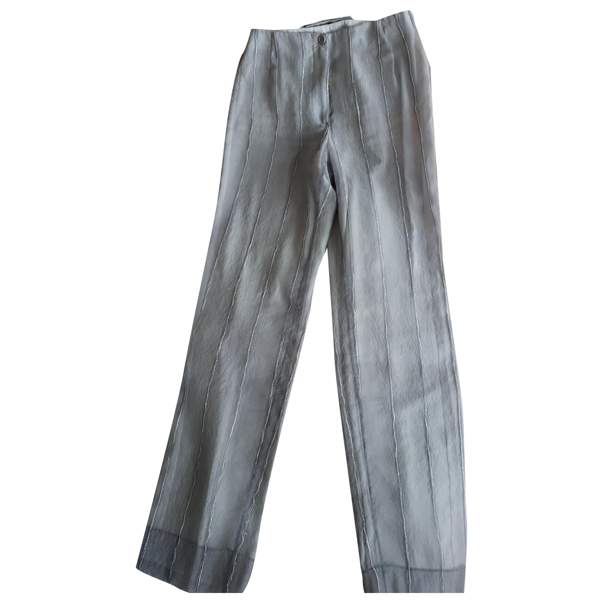 Emporio Armani \N Silver Trousers for Women 40 IT