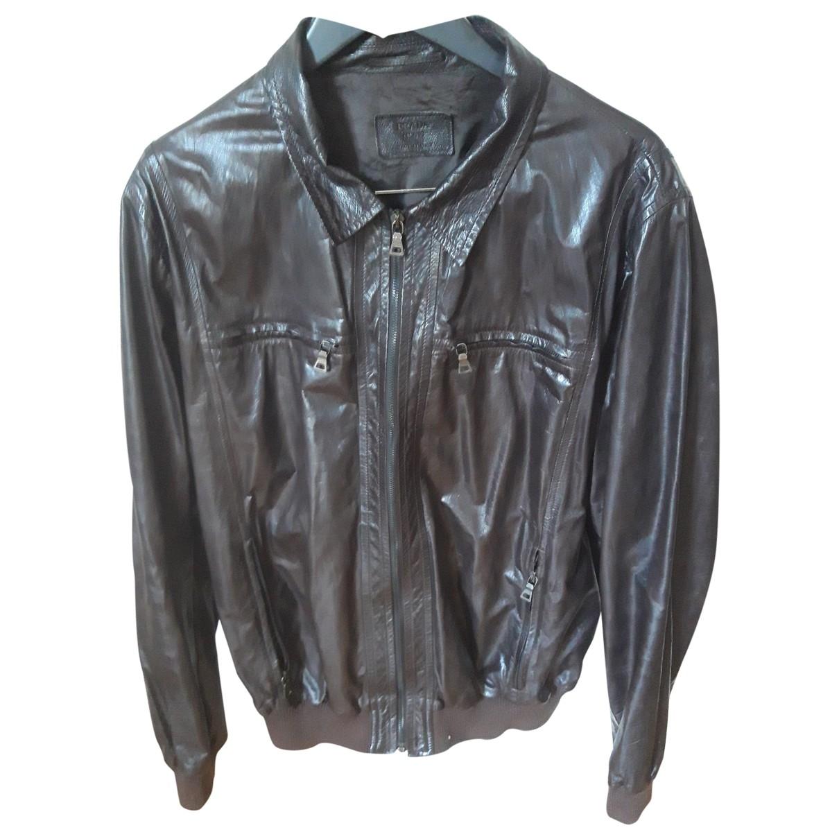 Prada \N Brown Leather jacket  for Men 56 IT