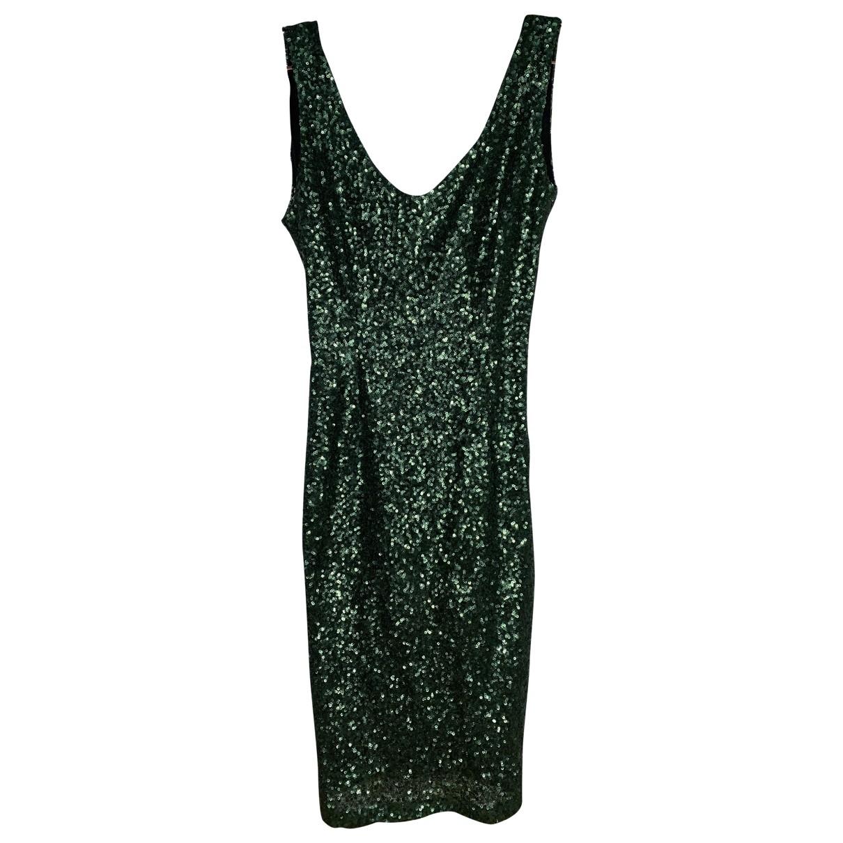 Non Signe / Unsigned \N Kleid in  Gruen Mit Pailletten