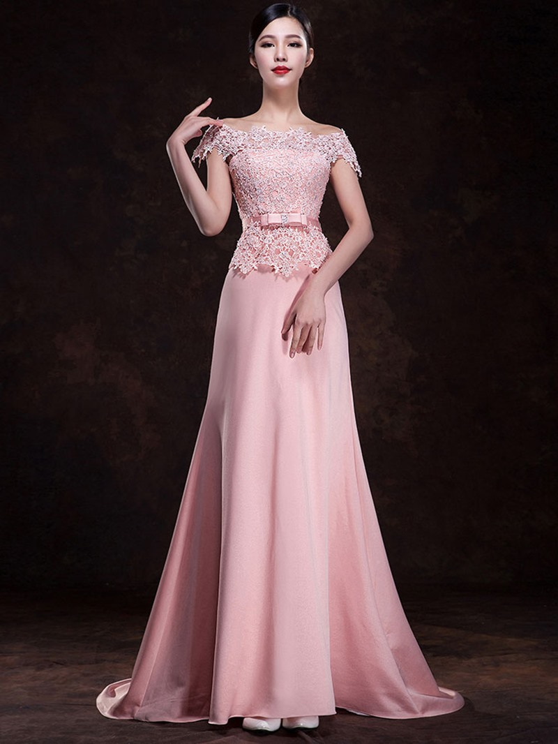 Ericdress Off the Shoulder Beading Lace Bridesmaid Dress
