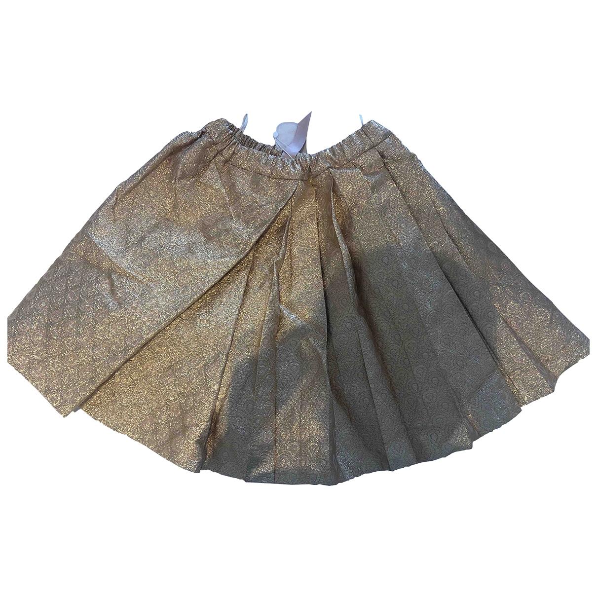 N°21 \N Gold Cotton skirt for Women 40 IT