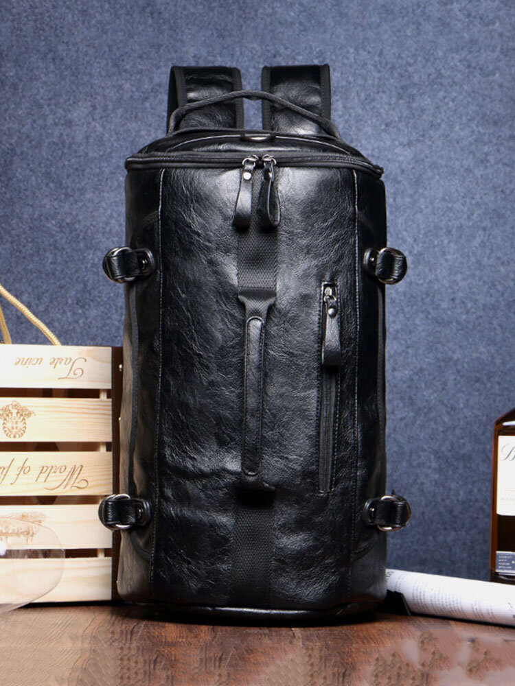 Men Retro Backpack Youth Travel Large Capacity Backpack Mountaineering Bag