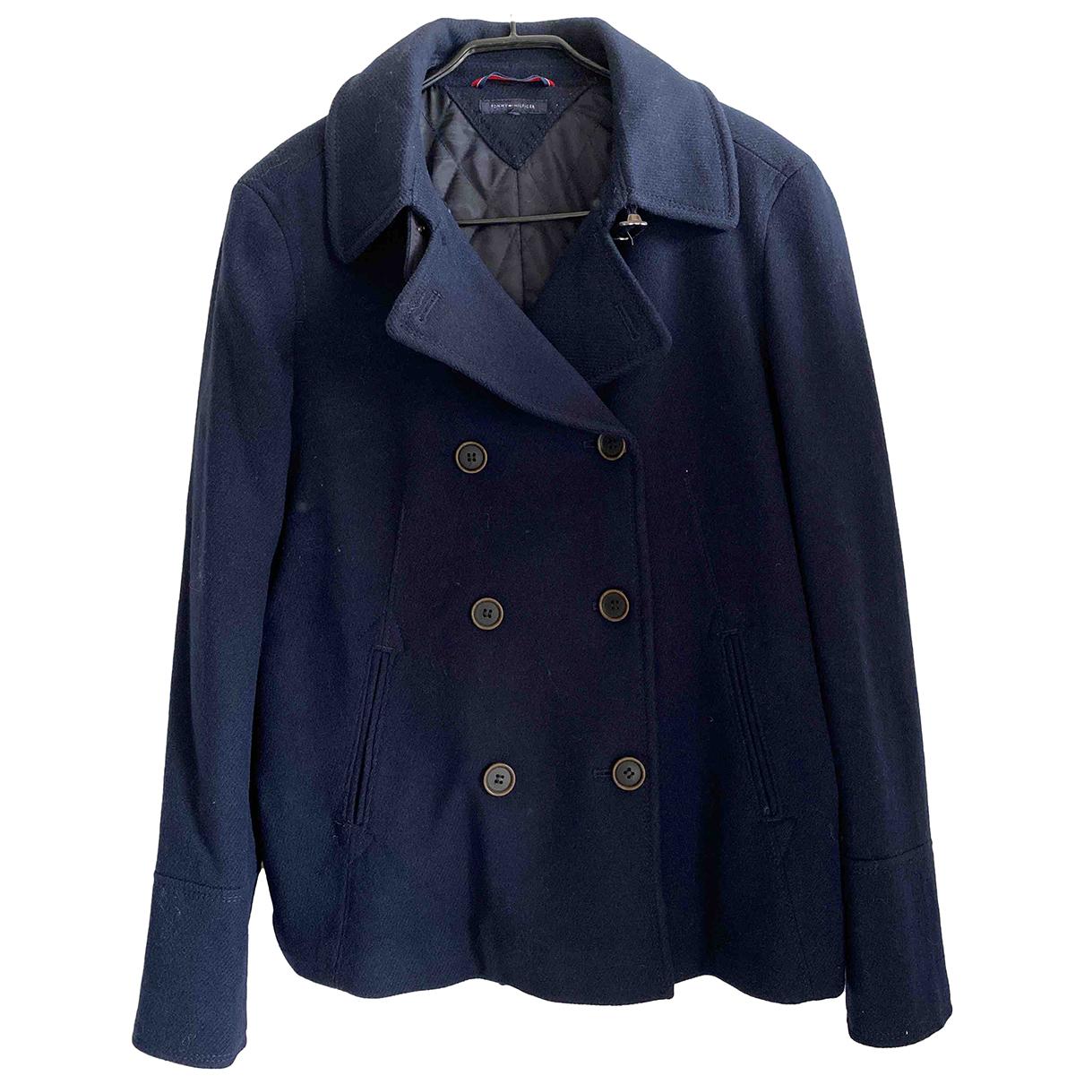 Tommy Hilfiger N Blue Wool coat for Women 44 IT