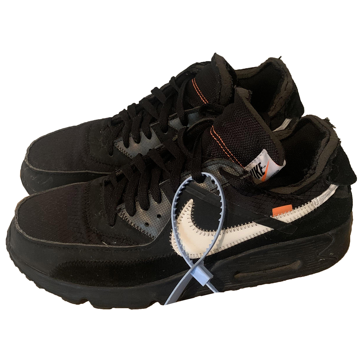 Nike X Off-white Air Max 90 Sneakers in  Schwarz Veloursleder