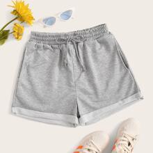 Cuffed Drawstring Shorts