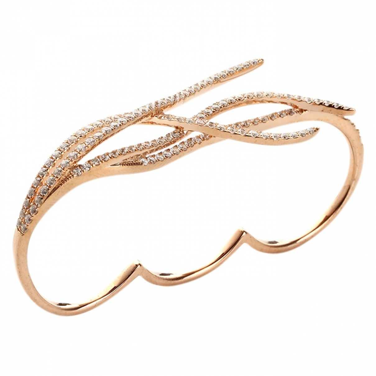 Non Signé / Unsigned \N Silver Pink gold ring for Women 49 EU