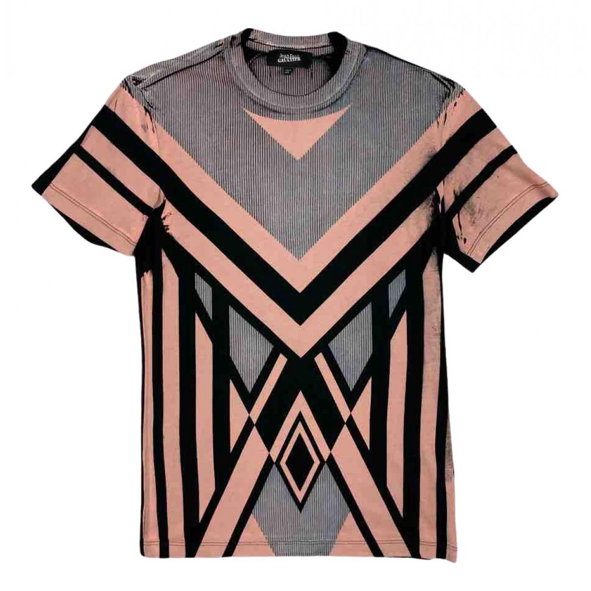 Jean Paul Gaultier - Tee shirts   pour homme en coton - noir