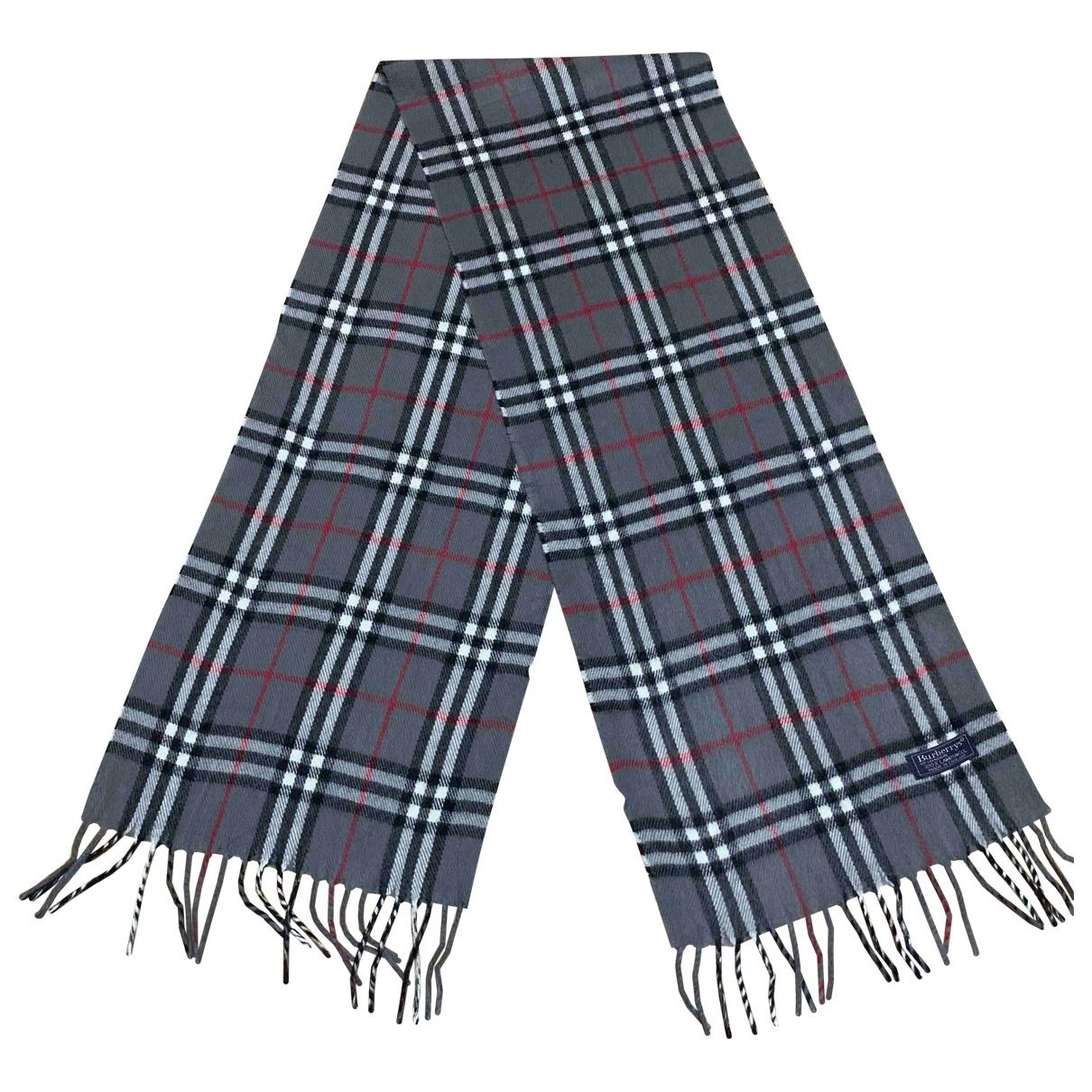 Burberry \N Grey Wool scarf for Women \N