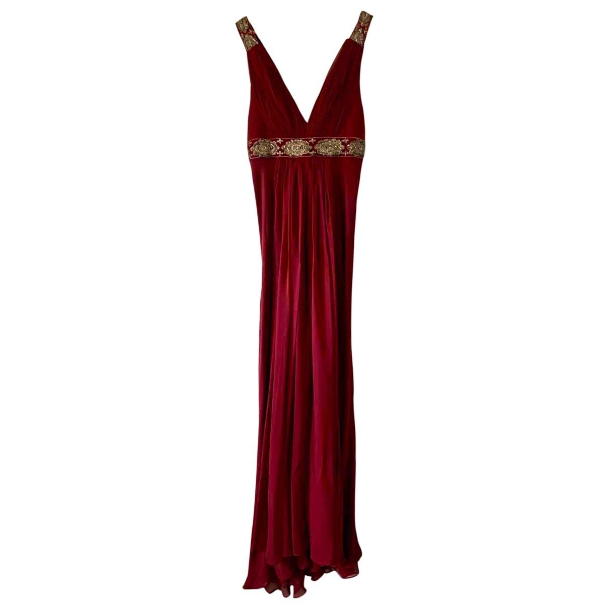 Marchesa Notte - Robe   pour femme en soie - bordeaux