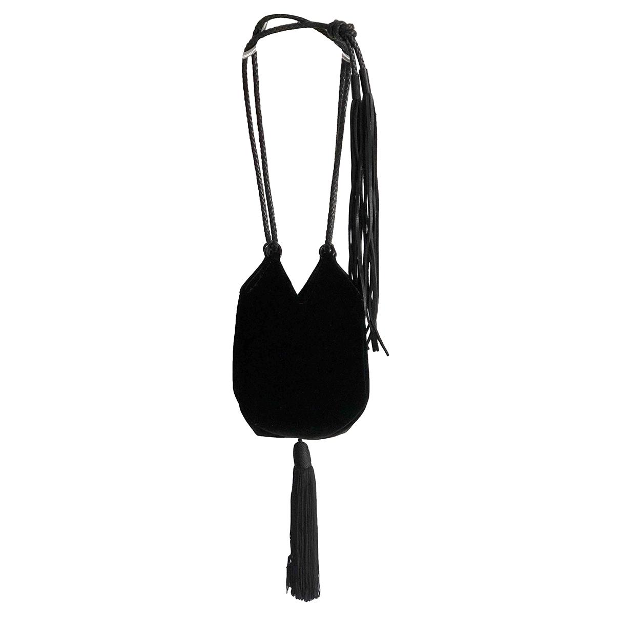 Saint Laurent - Sac a main   pour femme en velours - noir