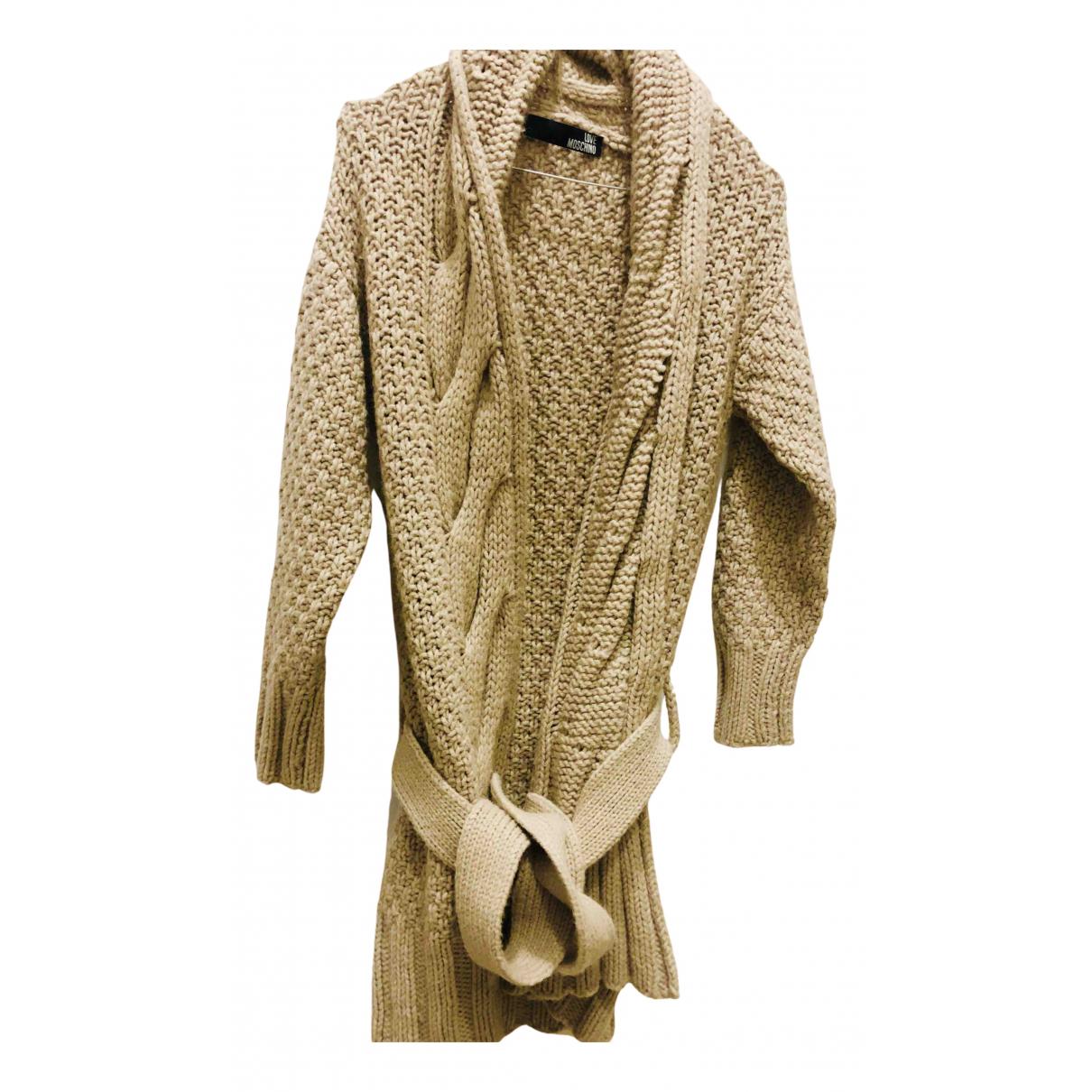 Moschino Love \N Beige Wool coat for Women 2 US
