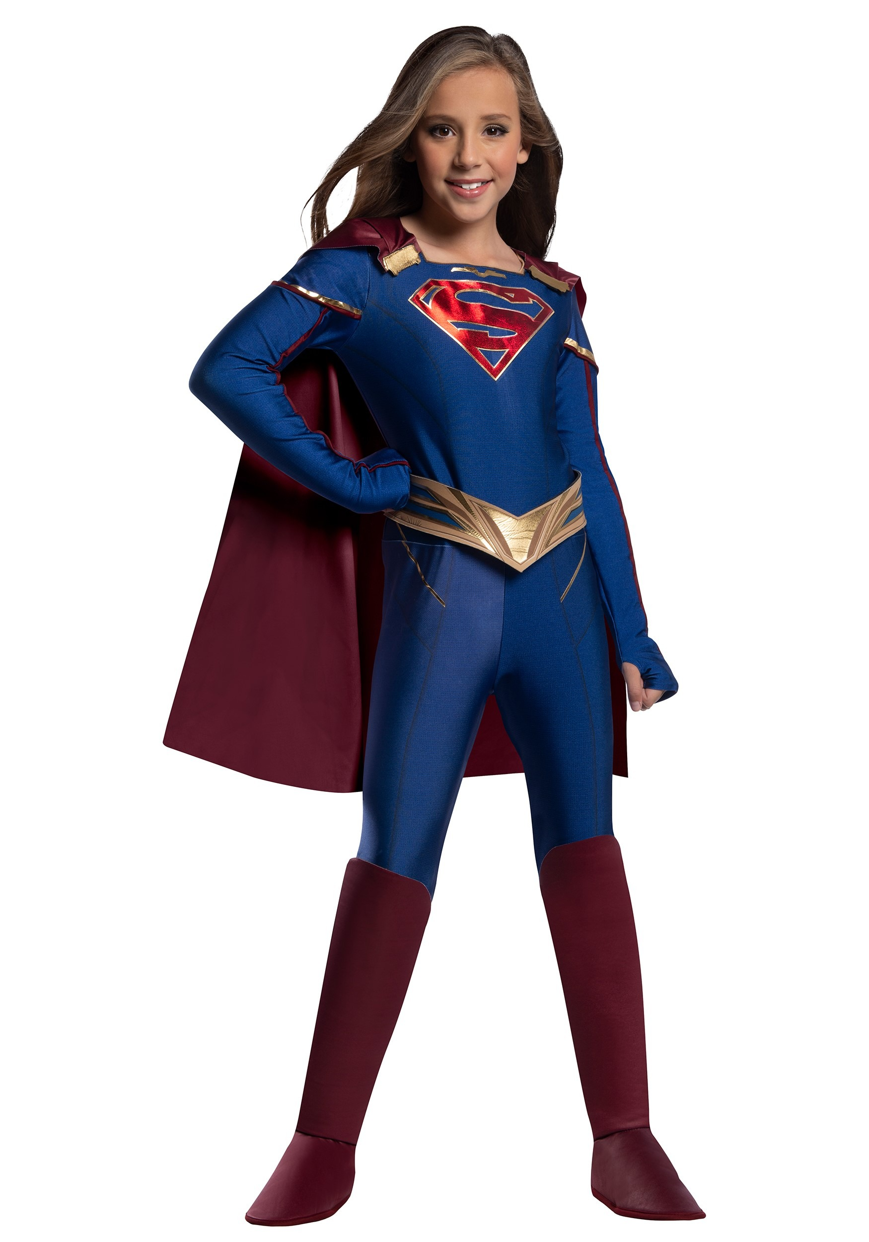 Kids Supergirl Jumpsuit Costume