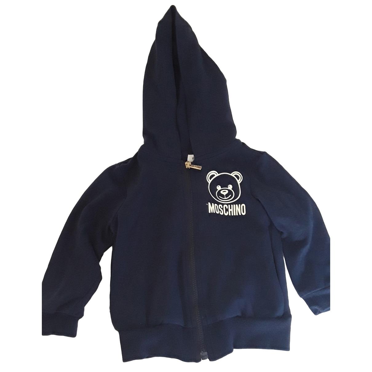Moschino - Pull   pour enfant en coton - bleu