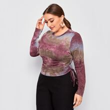 Camiseta de tie dye con cordon lateral