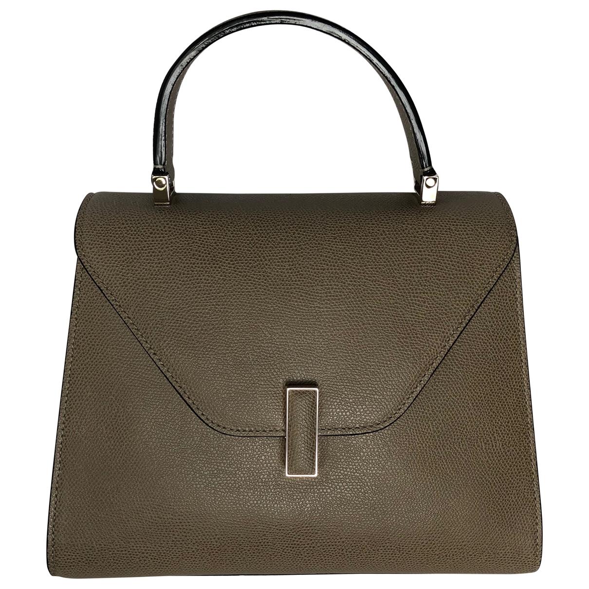 Valextra Iside Handtasche in  Beige Leder