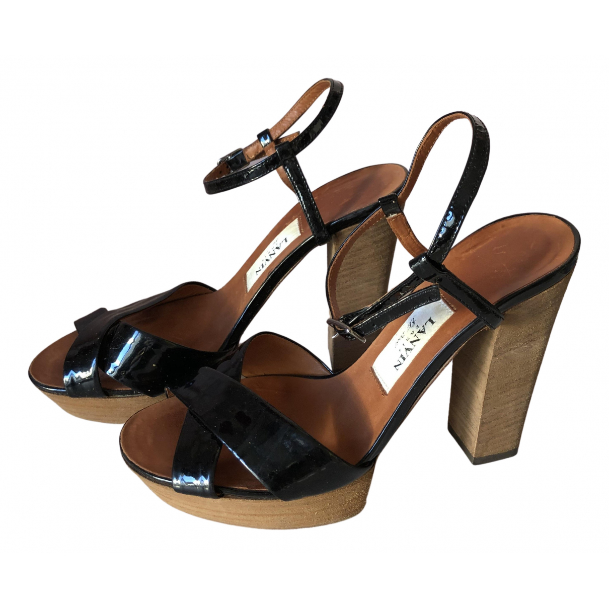 Lanvin \N Sandalen in  Schwarz Lackleder