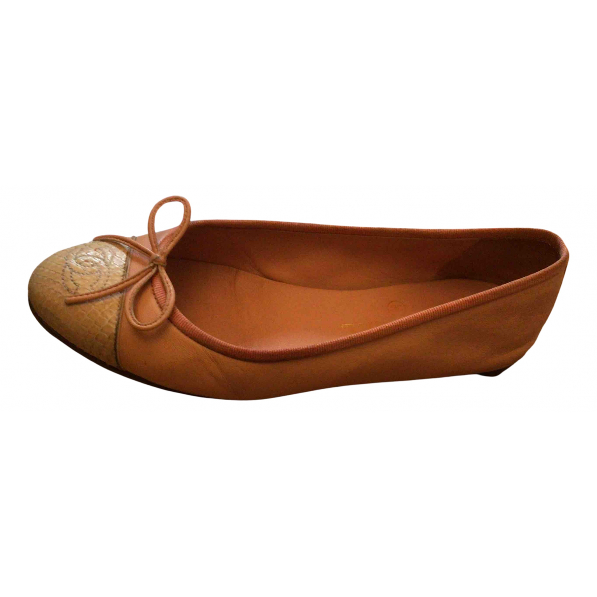 Chanel N Pink Leather Ballet flats for Women 36 EU