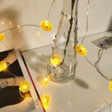 1pc String Light With 10pcs Daisy Shaped Bulb